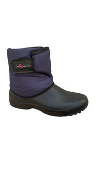 Непромокаемые-дутики из пены эва, 25,5 см и 26,5 см. Синие ботинки на флисе.