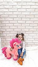 Мягкая игрушка пони розовая