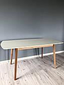 Стол обеденный Intarsio Exen II 120(160)х80 см Кремовый