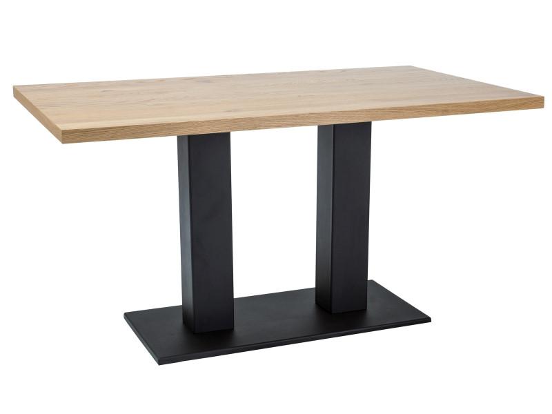 Стол обеденный Signal SAURON 180x90 Дуб/Черный (SAURONDC180)