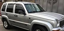 Ветровики Джип Патриот   Дефлекторы окон Jeep Patriot 2007