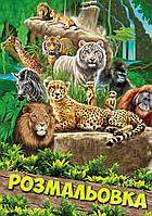 """Раскраска А4 1Вересня """"Животные 2"""", 12 стр."""