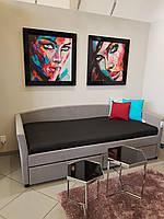 Односпальная кровать Signal Lanta 90X200 Серый (LANTA90SZ)