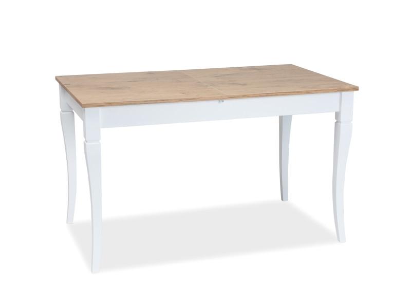 Стол обеденный Signal LUDWIK 125(170)x75 раскладной Дуб ланселот/Белый мат (LUDWIKDLB125)