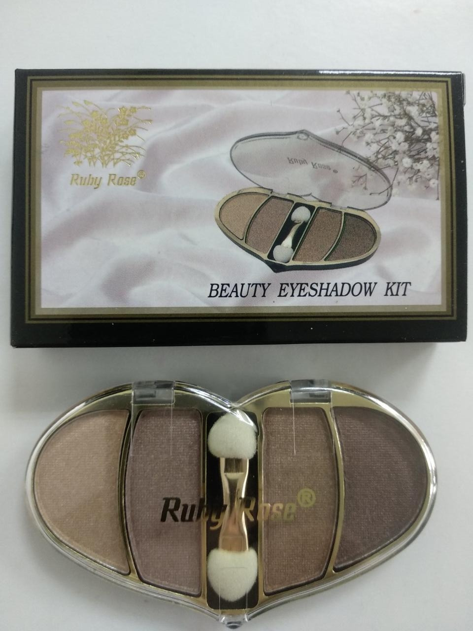 Тіні для повік Ruby Rose BEAUTY EYESHAROW KIT 4 відтінку HB304