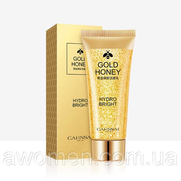 Уценка! Пенка для умывания Cahnsai Gold Honey с экстрактом меда и коллоидного золота 100 g (мятая коробка)