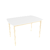 Стол обеденный Intarsio Exen 120х80 см Белый