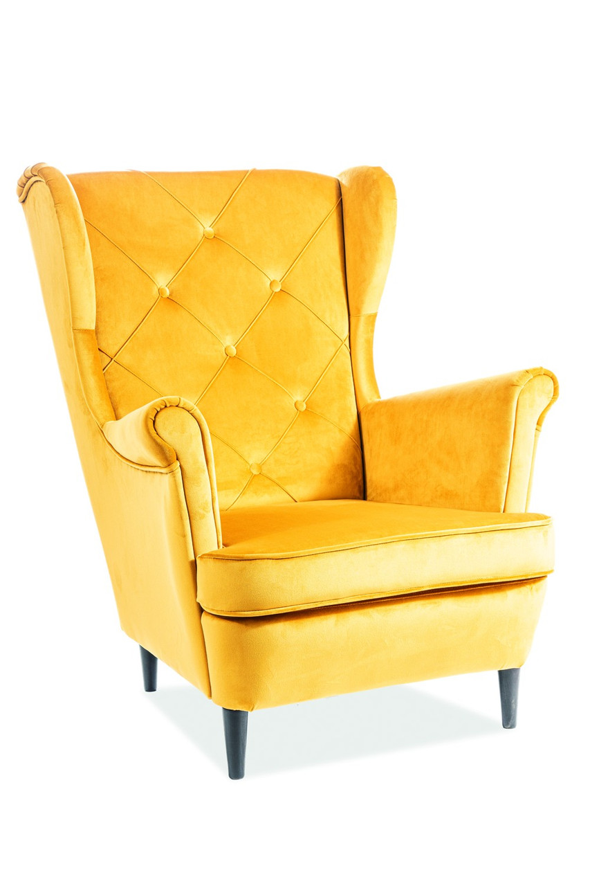 Крісло Signal Lady Velvet B1 Жовтий (LADYV68)