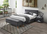 Двуспальная кровать Signal Azurro Velvet 180X200 Серый (AZURROV180SZD)