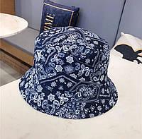 Панама Принт Синяя, Унисекс, фото 1