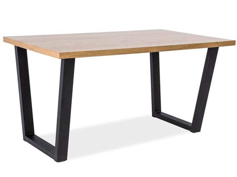 Стол обеденный Signal VALENTINO 120x80 Дуб/Черный (VALENTINO120)