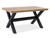 Журнальний стіл Меблі Signal Xaviero B Дуб/чорний (XAVIERO110)