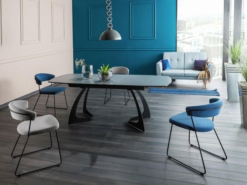 Стол обеденный Signal Martinez Ceramic 90х160(210) см Черный + Серый (MARTINEZSZC160)