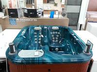 Бассейн Aqua синий мрамор 208х180