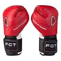 Боксерские перчатки FGT, Cristal, 8oz,10oz,12oz, красный
