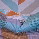 Евро комплект постельного белья в разноцветную клетку, Сатин-люкс, фото 2
