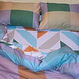 Евро комплект постельного белья в разноцветную клетку, Сатин-люкс, фото 3