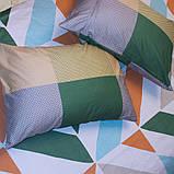 Евро комплект постельного белья в разноцветную клетку, Сатин-люкс, фото 4