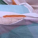 Евро комплект постельного белья в разноцветную клетку, Сатин-люкс, фото 5