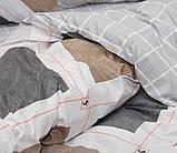 Евро комплект постельного белья в клеточку, Сатин-люкс, фото 3