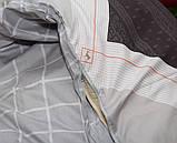 Евро комплект постельного белья в клеточку, Сатин-люкс, фото 4