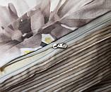 Євро комплект постільної білизни з кульбабами, Сатин-люкс, фото 4