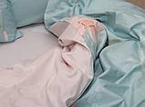 Евро комплект постельного белья с цветами, Сатин-люкс, фото 3