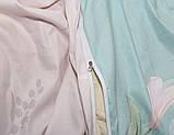 Евро комплект постельного белья с цветами, Сатин-люкс, фото 4