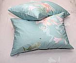Евро комплект постельного белья с цветами, Сатин-люкс, фото 5