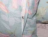 Евро комплект постельного белья с цветами, Сатин-люкс, фото 6