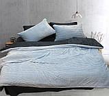 Євро комплект постільної білизни сірого кольору, Сатин, фото 2