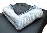 Євро комплект постільної білизни сірого кольору, Сатин, фото 5