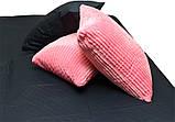Евро комплект постельного белья розового цвета, Сатин, фото 3