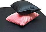Евро комплект постельного белья розового цвета, Сатин, фото 4