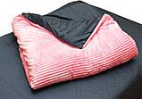 Евро комплект постельного белья розового цвета, Сатин, фото 5