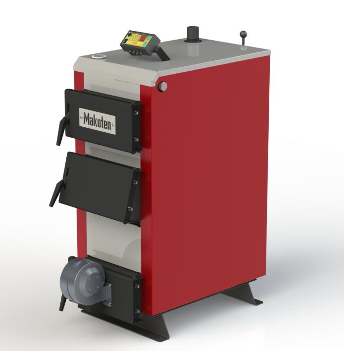 Твердотопливный котел длительного горения Kotlant КМ-15 кВт с автоматикой и вентилятором