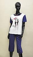 Женская пижама (футболка и капри) из хлопка Natural Club