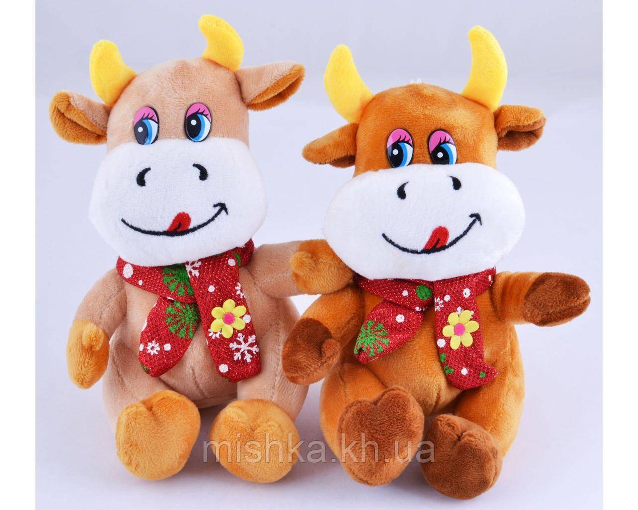 Мягкая игрушка Бычок с шарфом №005462