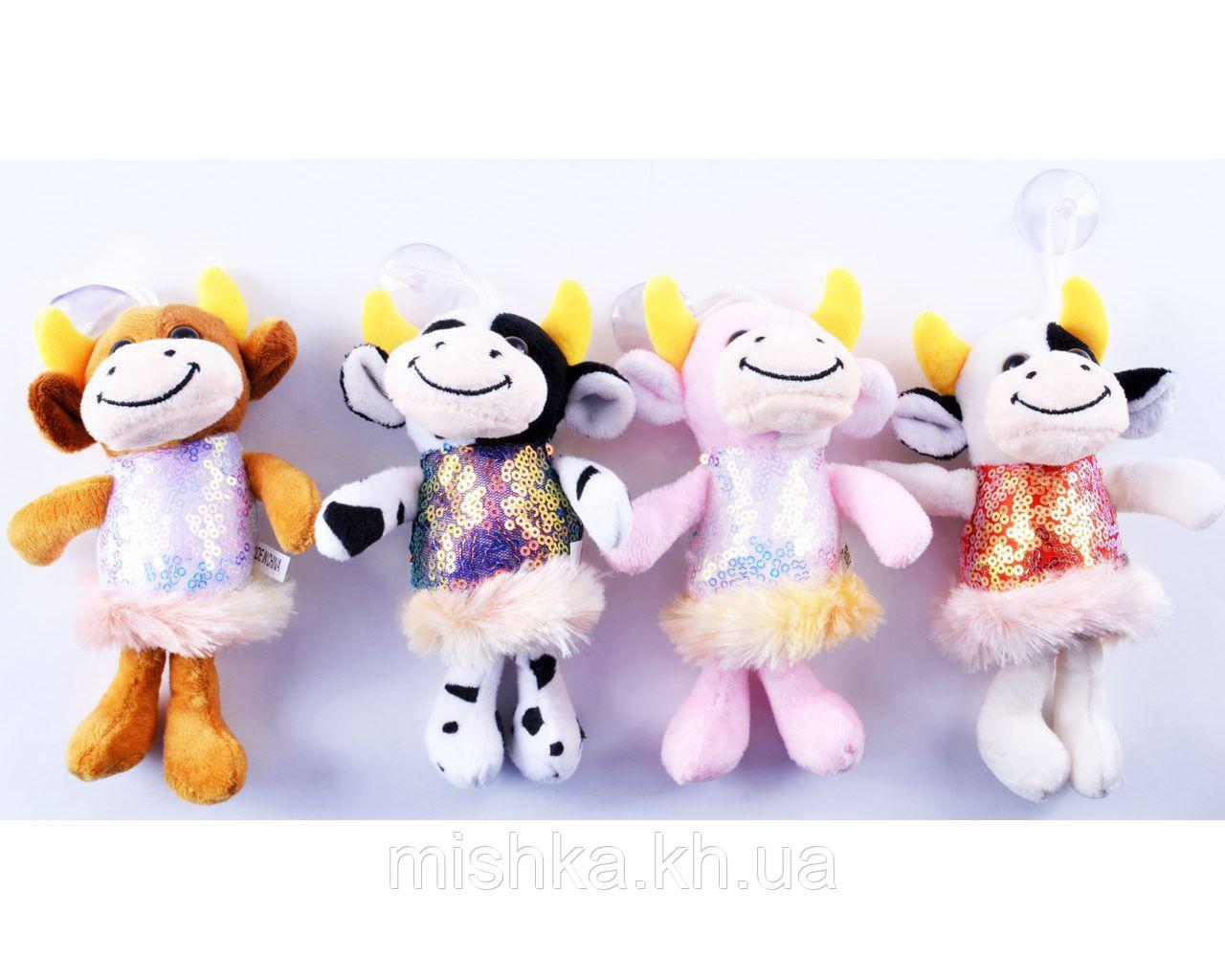 М'яка іграшка Корівка в блискучому сукню №005431