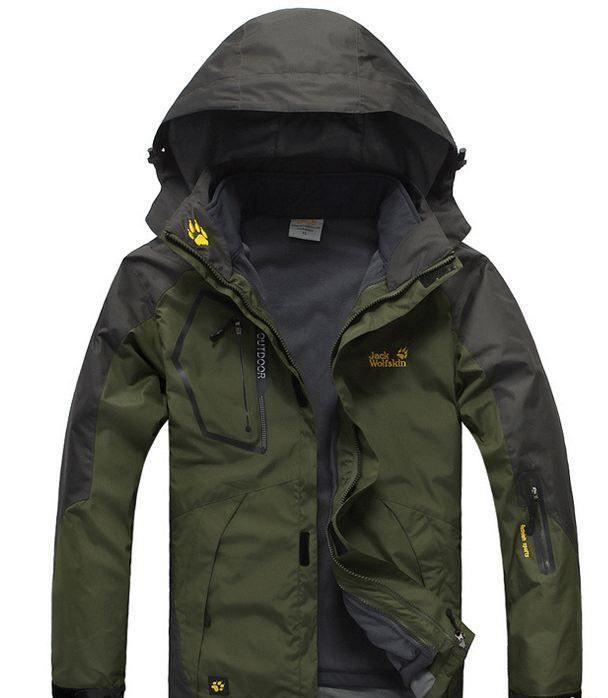 98a00fc10478 Водонепроницаемые Мужская куртка 3 в 1 JACK WOLFSKIN. Куртки спортивные.  Весенние куртки мужские.