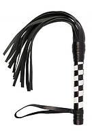 Плеть VIP Leather Flogger Black&White
