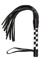 Плеть VIP Leather Flogger Black&White