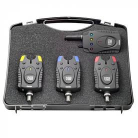 Набор сигнализаторов поклевки с пейджером 3+1 в кейсе Robinson Super Vibe 88EK430 (112926)