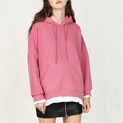 Худи женское из комбинированной ткани Pink happiness Berni Fashion (M)
