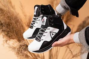 Детские кроссовки кожаные зимние белые-черные CrosSAV 317 Sport, фото 2