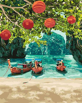 KH2291 Картина для рисования по номерам Отдых в Таиланде, Без коробки, фото 2