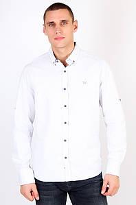 Рубашка мужская батальная белая Well Done 123449P
