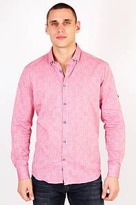 Рубашка мужская батальная розовая Well Done 123439P