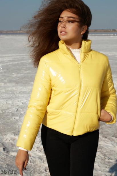 Укороченная желтая куртка S,M,L