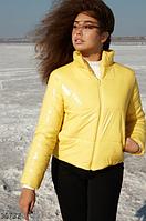 Укороченная желтая куртка S,M,L, фото 1